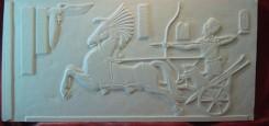 car_de_lupta_egiptean_casa_particulara_tablou_sculptura_piatra_stone_story